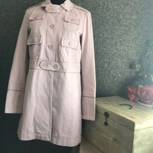 Marc Jacobs Epaulette Trench Coat Jacket Medium